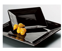 Ceramic Square Black Platter, Packaging Type: Box
