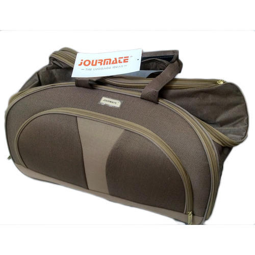 Polyester Duffel Traveling Bag - Brown- Jourmate e575ad1acafe6