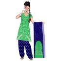 Green Stylish Bandhani Suit