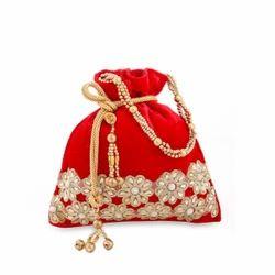 Velvet Embroidery Potli Bag