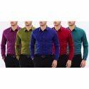 Cotton Formal Wear Men Formal Plain Shirt, Size: M