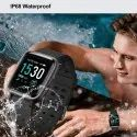 OMNiX Fitness Tracker Touch Screen Smartwatch IP68 Waterproof with Heart Rate Monitor
