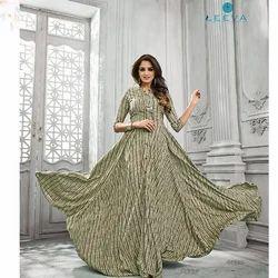 5155 Leeva Printed Rayon Cotton Kurti