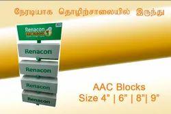 Renacon Autoclaved Aereted Concrete Blocks 6 , Size: 24 In