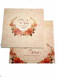 Floral Theme Wedding Cards
