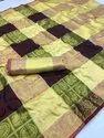 Kanjivaram Silk Saree, Length: 5.5 m Separate Blouse Piece