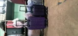Blue Polyester trolley suitcase, Number Of Wheel: 2, Size: 20