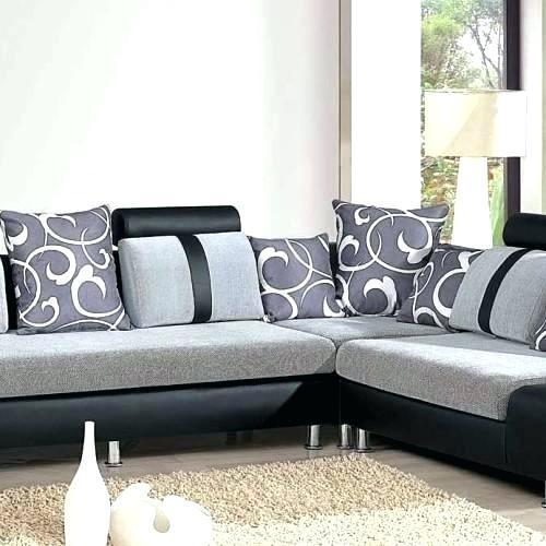 Grey Latest Velvet Designer Sofa Set