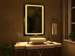 Compass Pure White LED Rectangle Mirror, 15 W