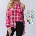 Cotton Made In Africa Ladies Checked Tops