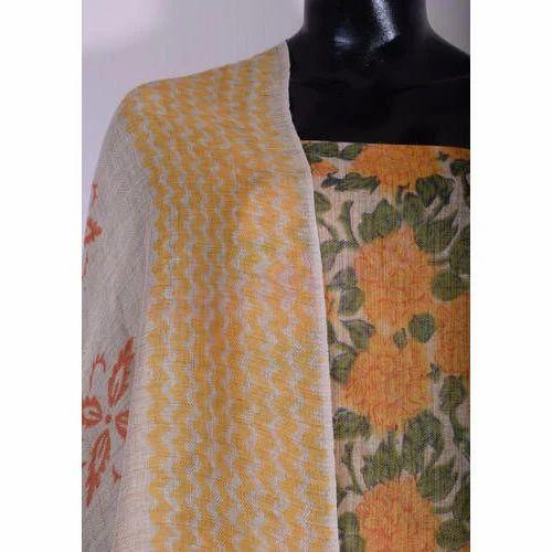 2cbde913b1 Multicolor Printed Jute Silk Dress Material, Rs 130 /meter | ID ...