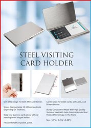 Steel Visiting Card Holder - Giftana
