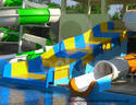 Frp Blue And Yellow Family Water Slide