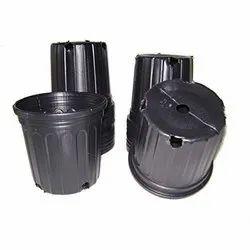 Round Black Big Plastic Pot