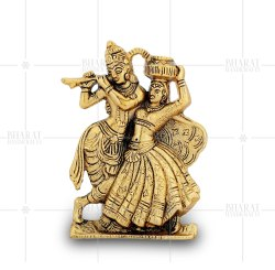 Gold Plated Radha Krishna Wall Hanging