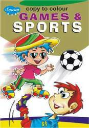 Copy To Colour Games & Sports Book