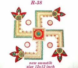 Marble Finish Swastik Rangoli (10 in 1)