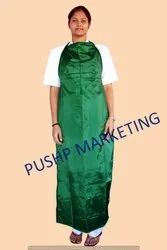 Green Plain Medical Plastic Apron, Size: M And S