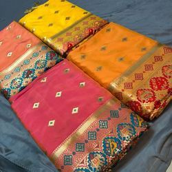 Heavy Soft Silk With Zari and Rich Pallu Patola Design Saree