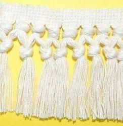 White Cotton Fringe