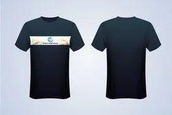 Cotton Printed Half Sleeve Promotional T Shirt, Size: Medium