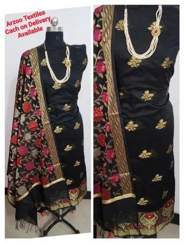 Normal Salwar Banarsi Cotton Fancy Suit