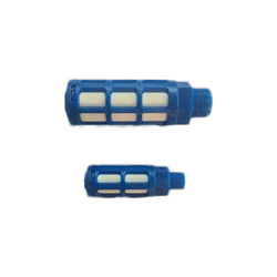 Mercury Blue and White Plastic Silencer, Size: 1/2 inch
