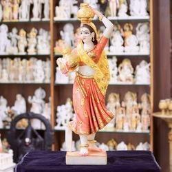 Rajasthani Lady Figurine Statue