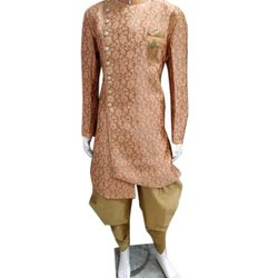 Printed Wedding Traditional Indo Western Sherwani, Size: 38