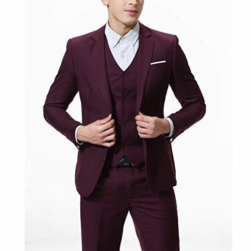 e6352b5020e Plain Full Sleeve Men' s 3 Piece Suit