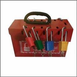 Red Polypropylene Mini Group Lockout Box