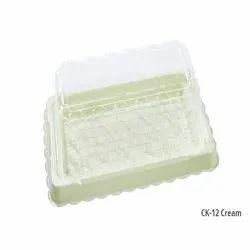 CK-12 Cream Plastic Container