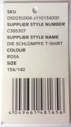 Garment Barcode Hang Tag