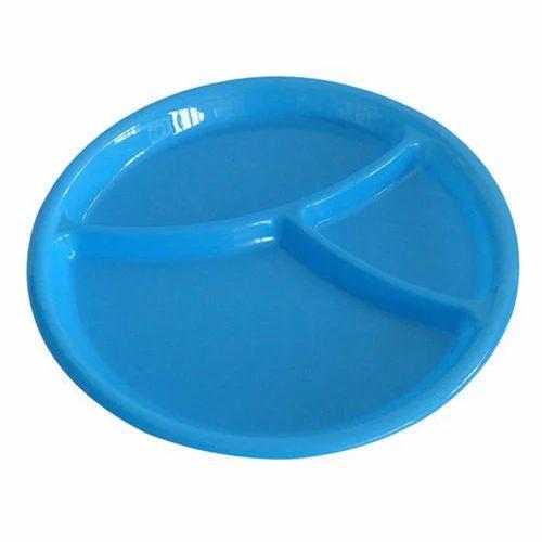 Blue Microwave Plastic Plate Rs 16