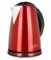 Black & Decker BXKE1801IN 1.8-Litre Stainless Steel Electric Kettle (Red)