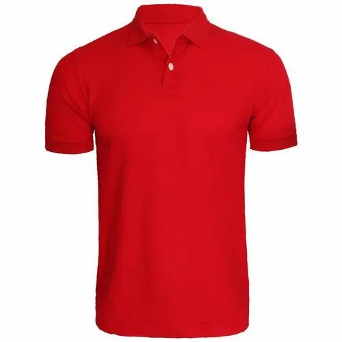 Cotton Plain Mens Polo T-Shirt, Packaging Type: Packet