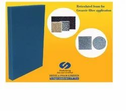 Sheela Ceramic Filter Reticulated Foam Sheet