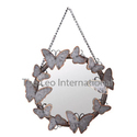 Butterfly Decorative Metal Mirror For Wall Decoration