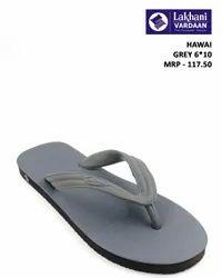 Lakhani Grey Hawai Slipper, Size: 6*10