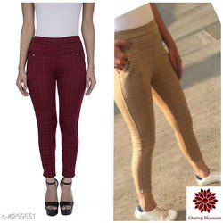 Cherry Blossom Poly Cotton Womens Trousers
