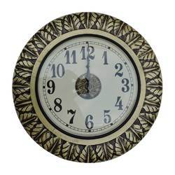 Carving Brass Fitted Wall Clock
