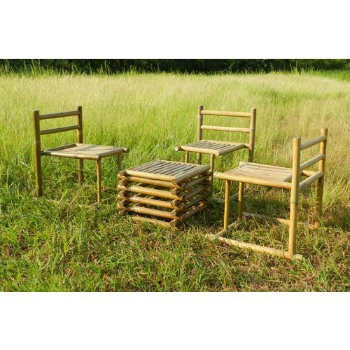 Bamboo Outdoor Dining Table Set For, Bamboo Outdoor Furniture Set