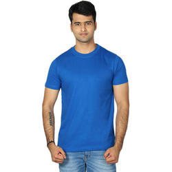 Mens Polyester Round Neck Half Sleeve T-Shirt, Size: S, M and L