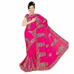 Pink Ladies Handwork Saree