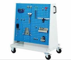 Blue Mild Steel Perforated Tool Trolley