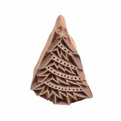 Designer X Tree Pattern Wooden Henna Print Block
