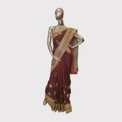 Coffee Allover Work Designer Saree