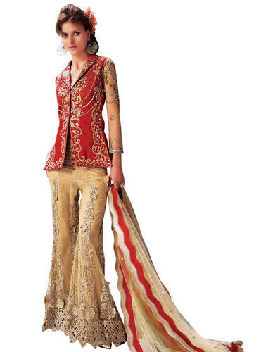 Designer 2017 Koti Jacket Style Dress Material Dress Ka Saman