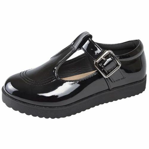 Black Girls School Uniform Buckle Shoes