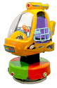 Rotating Helicopter Kiddie Amusement Ride Game